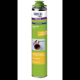 Mousse expansive pistolable étanchéité MX310 PU vert aérosol(s) 750 ml