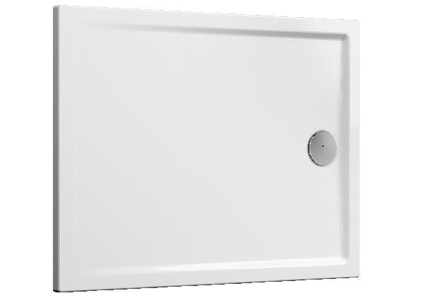 Receveur CASCADE blanc PMR céramique 120x90cm Ep40mm NF