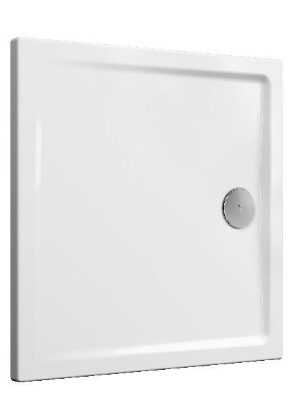 Receveur CASCADE blanc PMR céramique 90x90cm Ep40mm NF
