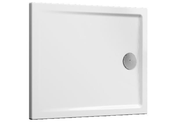 Receveur CASCADE blanc PMR céramique 100x80cm Ep40mm NF