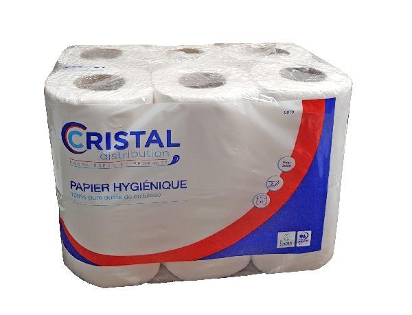 Papier toilette CRISTAL blanc paquet 12