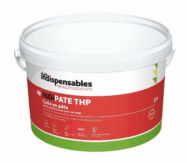 Colle pâte INDIPATE THP blanc seau 5kg D2TE