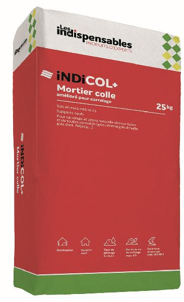 Mortier colle INDICOL+ gris sac 25kg