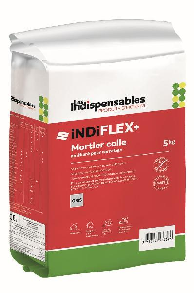 Mortier colle INDIFLEX+ blanc sac 5kg