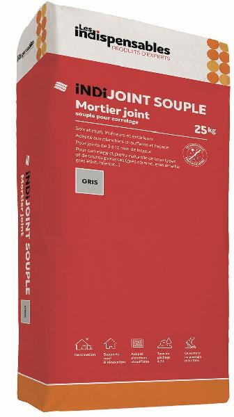 Mortier joint INDIJOINT SOUPLE gris sac 25kg