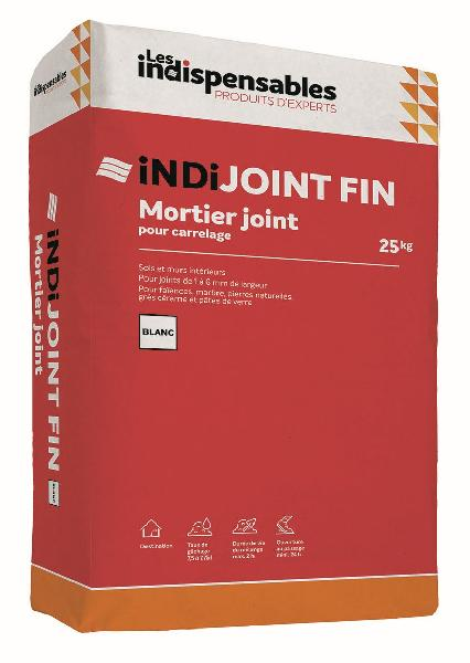 Mortier joint INDIJOINT FIN blanc sac 25kg