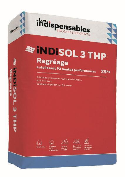 Mortier autolissant ragréage sol INDISOL 3 THP sac 25kg