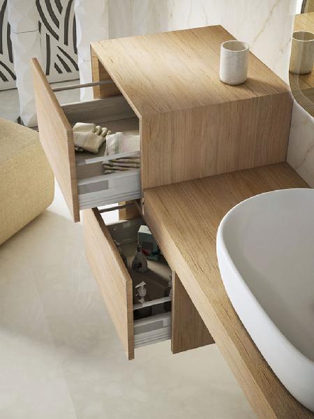 Caisson salle de bain TAVOLONE bois tabacco 50x43x30
