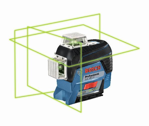 Laser ligne GLL 3-80 CG vert +support BM1 12V coffret +carte cadeau