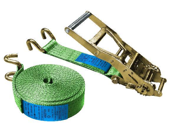 Sangle arrimage ergonomique crochet doigts écartés ERGOT vert 7,5T 9m