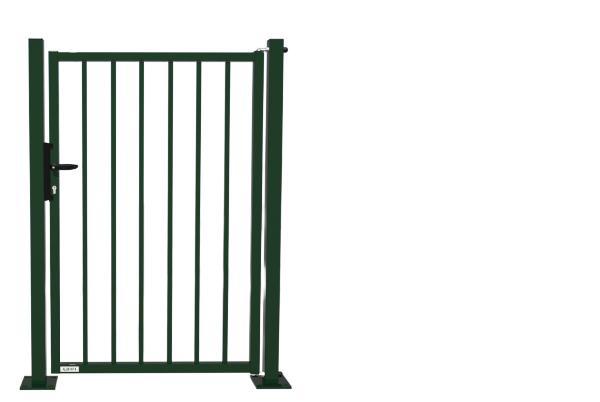Portillon manuel galvanisé PRACTIS barreaude à sceller 1x1,2m vert