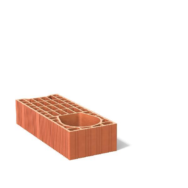 Brique de mur poteau BGV20/URBAN réservation 15 20x10,7x50cm