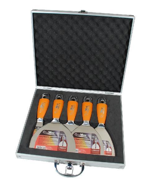 Couteaux à enduire monobloc ERGOMAX malette 5