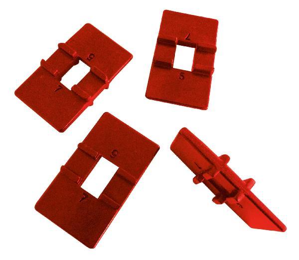 Cales réversibles 4-6mm pour pose-lame kit 4