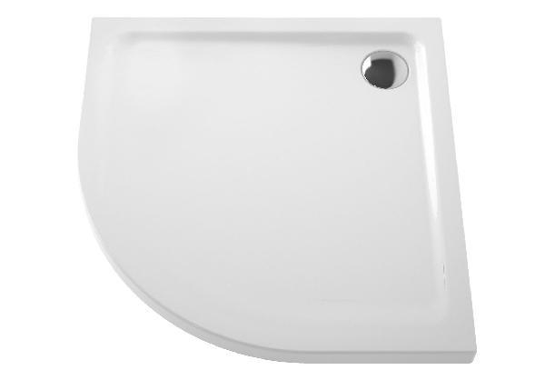 Receveur 1/4 de rond ARKITEKT blanc céramique 90x90cm Ep.55mm NF