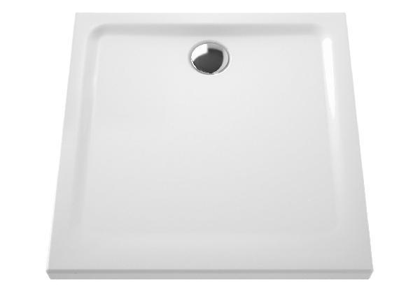 Receveur extra-plat ARKITEKT blanc céramique 80x80cm Ep.55mm NF