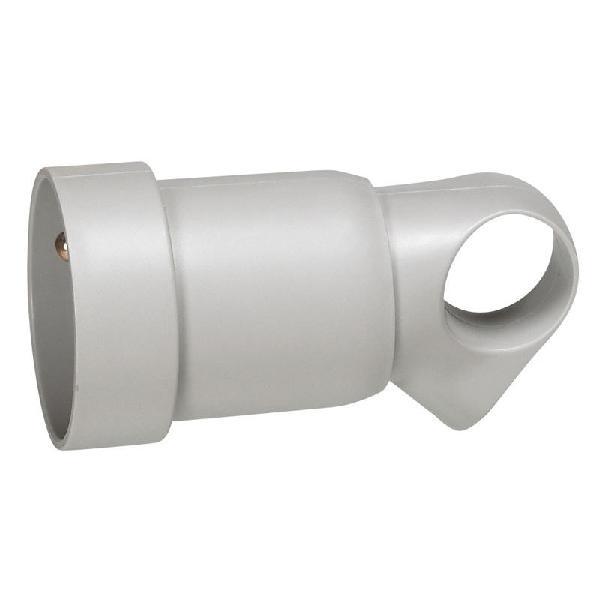Prolongateur 2P+T anneau plastique 16A gris