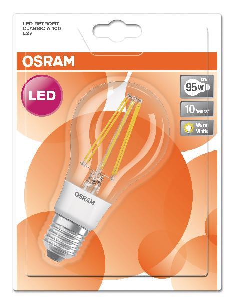 Ampoule led RETROFIT CLASSIC A 8,5W E27 840