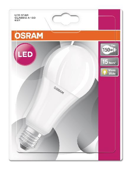 Ampoule led LEDSTAR CLASSIC A 20W E27 827