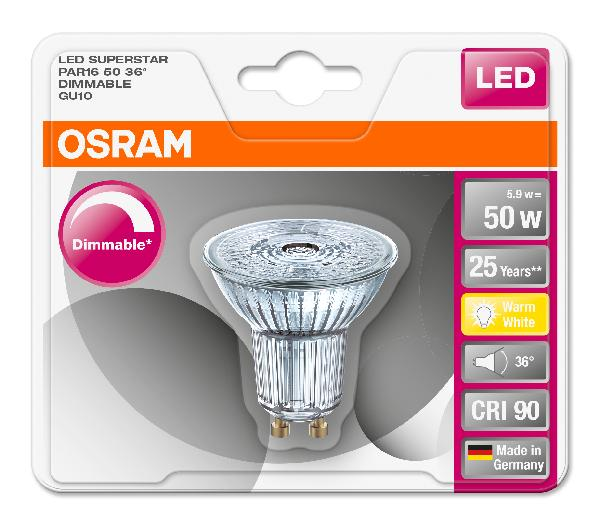 Spot led SUPERSTAR PAR16 5,5W GU10 927 36°