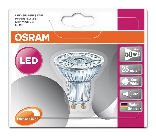 Spot led SUPERSTAR PAR16 5,9W GU10 940 36°