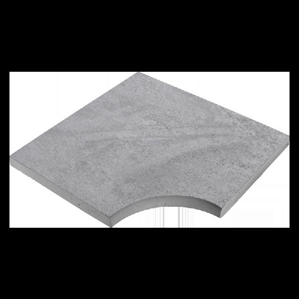 Angle droit CALYPSO 50x50cm Ep.3,5cm gris minéral nuancé