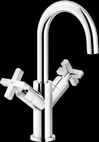Mélangeur lavabo LIRA acier chromé
