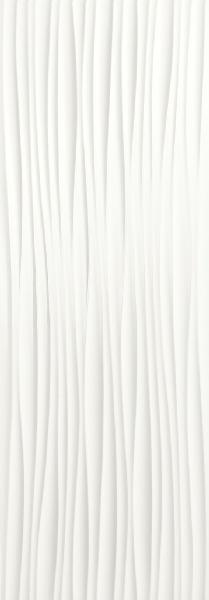 Faïence décor GENESIS wind white mat 35x100cm Ep.10,5mm