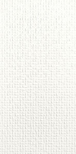 Faïence décor GENESIS arid white rectifié brillant 30x60cm Ep.8,5mm