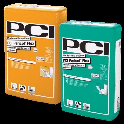 Mortier colle carrelage PCI PERICOL FLEX blanc sac 25kg C2E