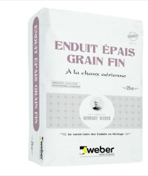 ENDUIT EPAIS GRAIN FIN 000 blanc sac 25Kg