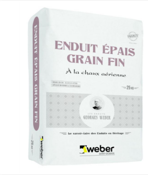 ENDUIT EPAIS GRAIN FIN 010 beige ocre sac 25Kg