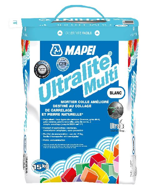 Mortier colle ULTRALITE MULTI blanc sac 15kg