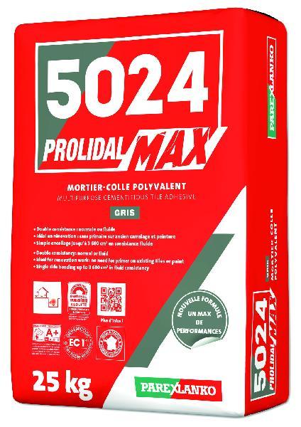 Mortier colle PROLIMAX + 5024 gris sans poussière sac 25kg