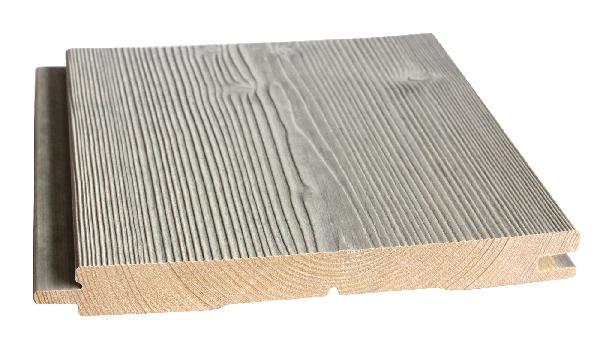 Lambris épicéa AB gris polaire micro GO brossé 21x181mm 2,65m paquet 4