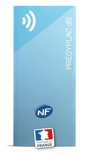 Plaque plâtre acoustique PREGYPLAC DB BA 13mm 250x120cm