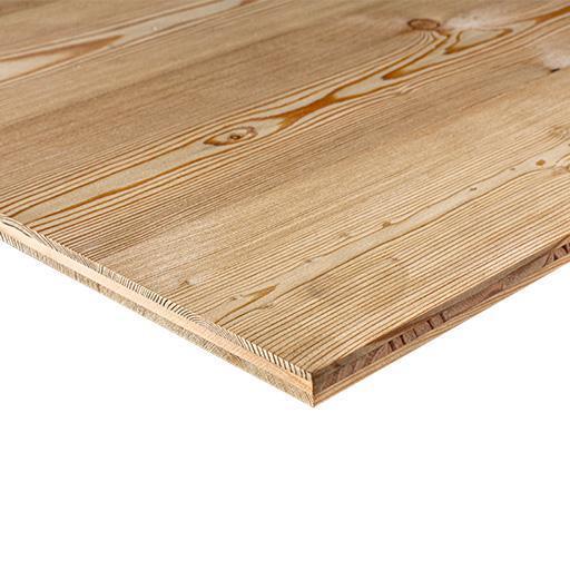 Panneau 3 plis mélèze de siberie B/C+ âme pin 19x5000x2050mm