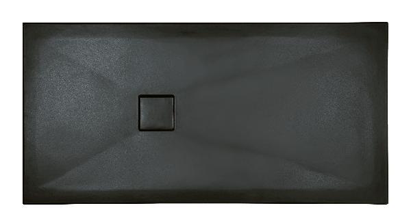 Receveur céramique PLUS+ TON 100x80cm Ep.3cm lisse anthracite mat