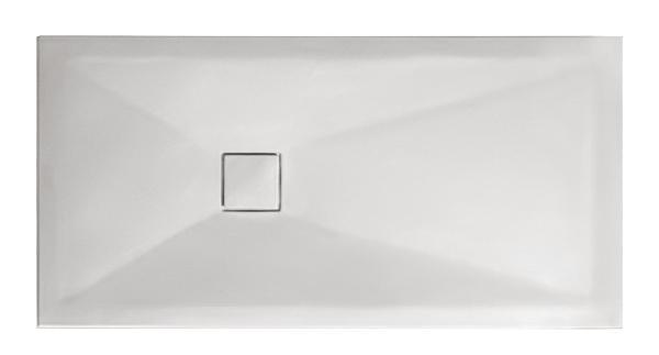 Receveur céramique PLUS+ TON 100x80cm Ep.3cm lisse blanc mat