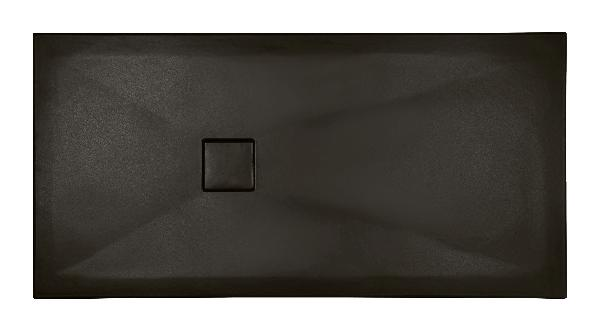 Receveur céramique PLUS+ TON 160x80cm Ep.3cm lisse noir mat