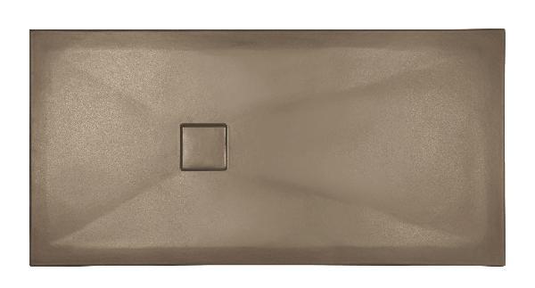 Receveur céramique PLUS+ TON 100x90cm Ep.3cm lisse cappuccino mat