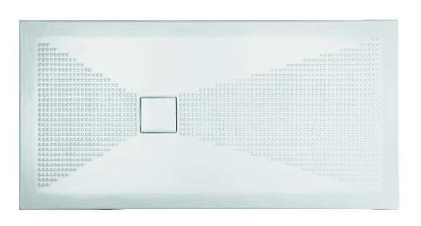 Receveur céramique PLUS+ TON 140x80cm Ep.3cm sphère blanc mat
