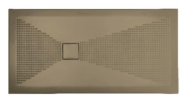 Receveur céramique PLUS+ TON 140x80cm Ep.3cm sphère cappuccino mat