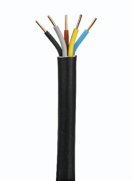 Câble industriel rigide U1000 RO2V 5 G 2,5mm² couronne 50m