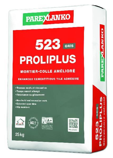 Mortier colle PROLIPLUS 523 gris sac 25kg