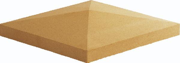 Chapeau pilier pointe diamant 50x50x5cm ton pierre