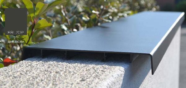 Couvertine alu ODEMUR mat plat 310x27cm RAL 7016 gris anthracite