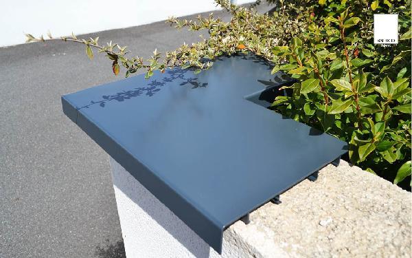 Angle 90° couvertine alu ODEMUR mat plat 50x50cm RAL 9010 blanc
