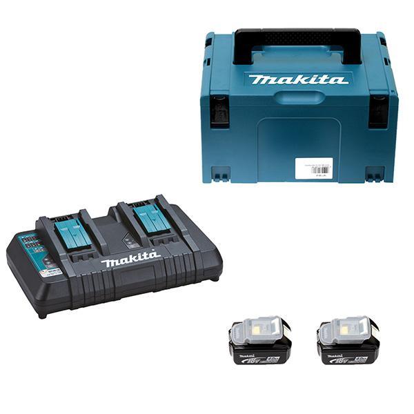Chargeur 18V 5Ah + 2 batteries 5Ah + coffret