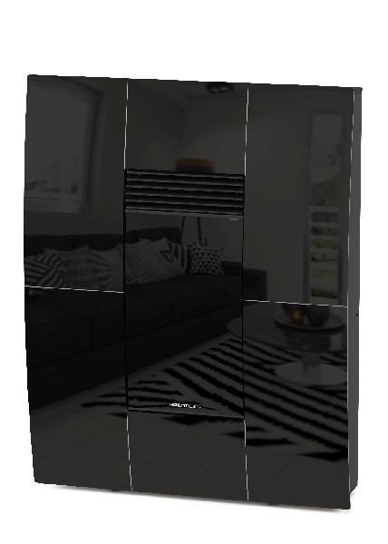 Poêle à granules A10 COMPACT GLASS noir